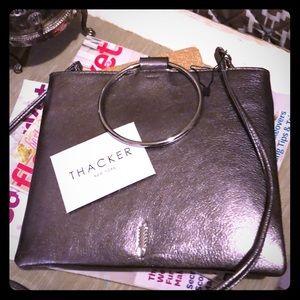 Thacker New York Bags - Thacker New York Leather Crossbody in silver
